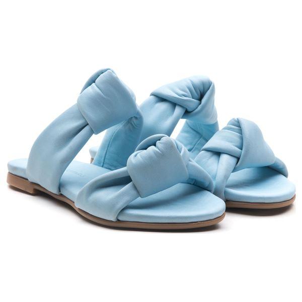 Annika Kadın Deri Terlik Bebe Mavi
