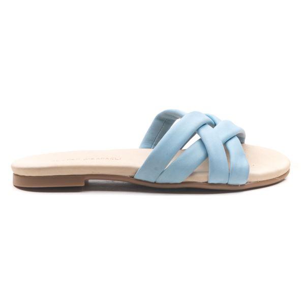 Brenta Kadın Deri Terlik Bebe Mavi