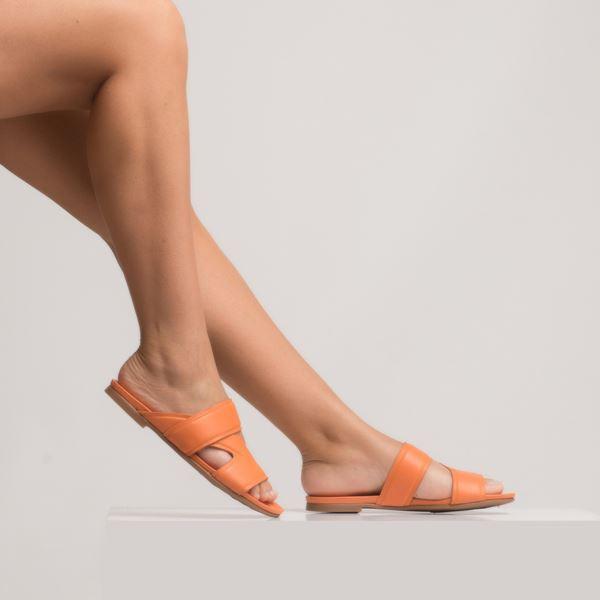 Amarion Kadın Deri Terlik Oranj