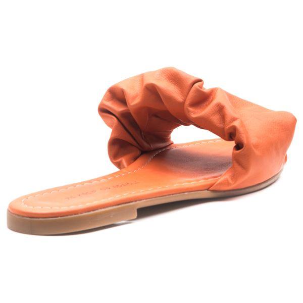 Tralle Kadın Deri Terlik Oranj