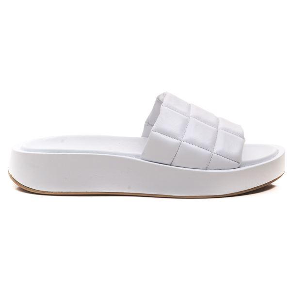 Ramone Kadın Deri Terlik Beyaz