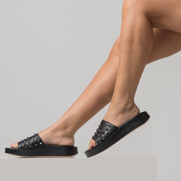 Dory Kadın Deri Terlik Siyah