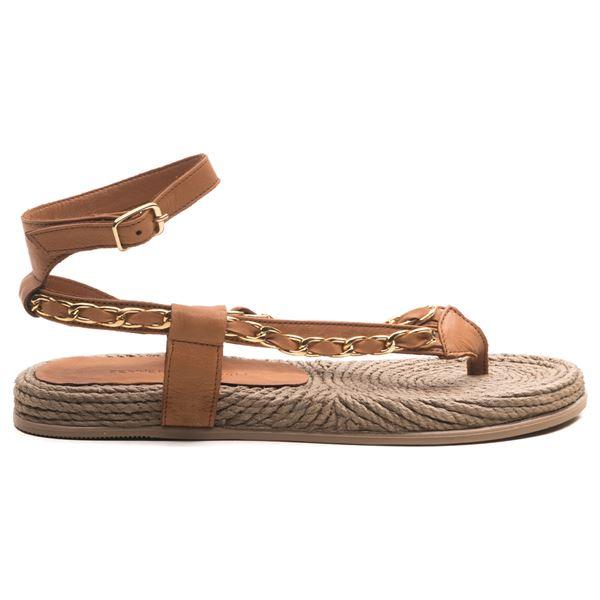 Cloweer Kadın Deri Sandalet Taba