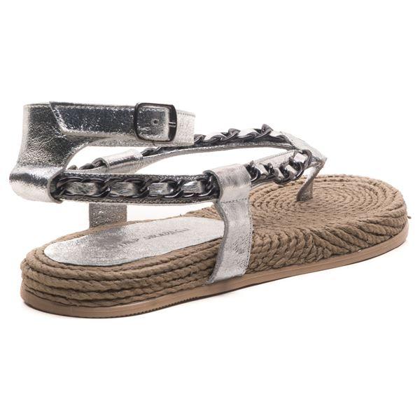 Cloweer Kadın Deri Sandalet Lame