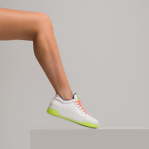 Candyy Kadın Spor Ayakkabı Beyaz Fıstık Oranj