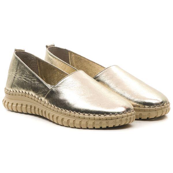 Merida Kadın Deri Ayakkabı Dore
