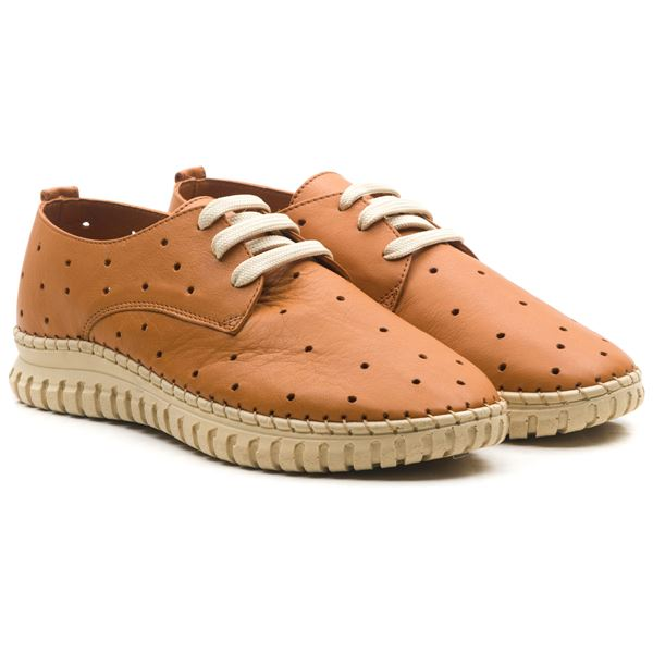 Harisso Kadın Deri Ayakkabı Taba