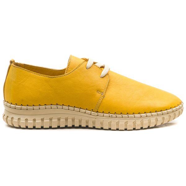 Orivva Kadın Deri Ayakkabı Sarı