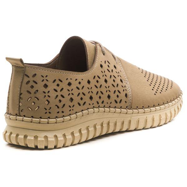 Diesella Kadın Deri Ayakkabı Kum
