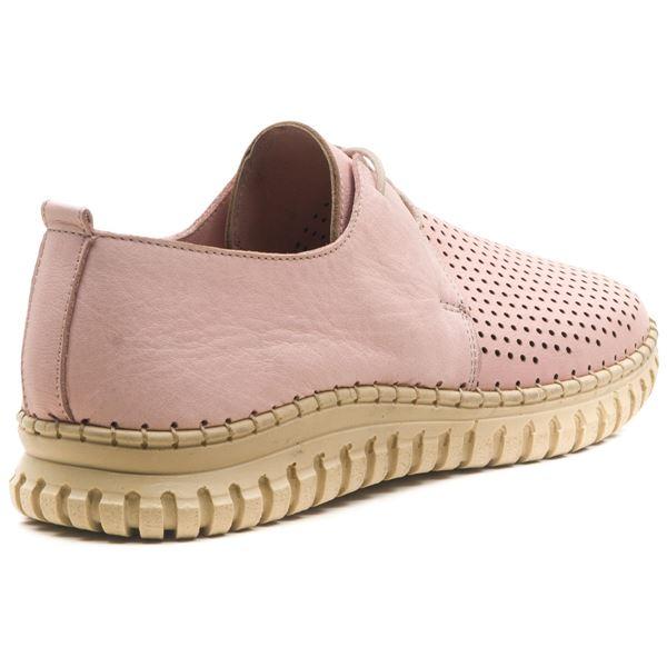 Helena Kadın Deri Ayakkabı Pudra