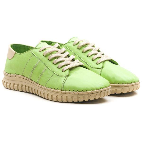 Cherry Kadın Deri Ayakkabı Fıstık Yeşil Bej