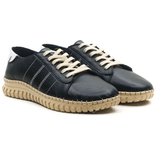 Cherry Kadın Deri Ayakkabı Siyah Beyaz