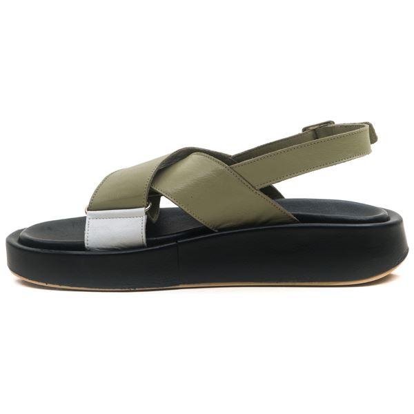 Dıegor Kadın Sandalet Su Yeşil Beyaz