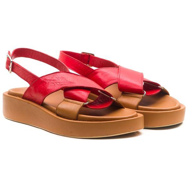 Dıegor Kadın Sandalet Kırmızı Taba