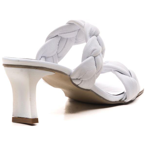 Becca Kadın Deri Terlik Beyaz