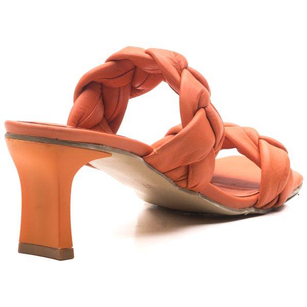 Becca Kadın Deri Terlik Oranj