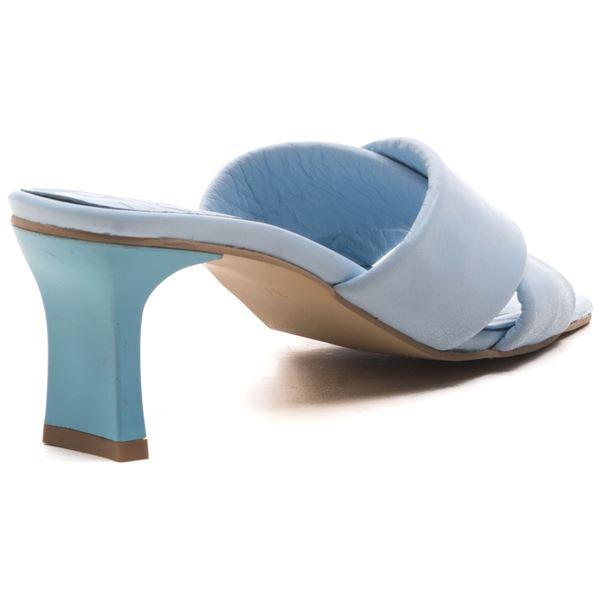 Jadrian Kadın Deri Terlik Bebe Mavi