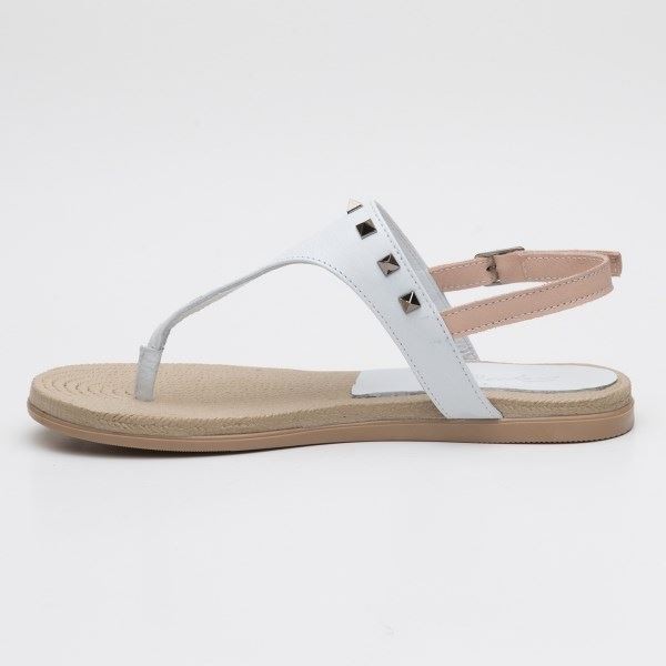 Dulce Sandalet Beyaz-Pudra