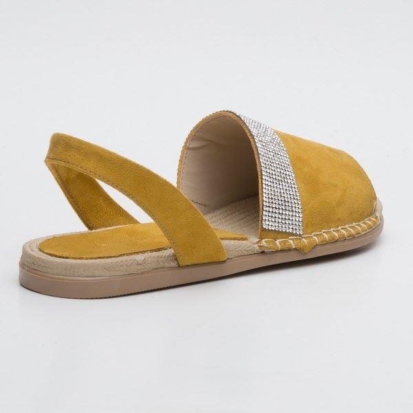 Piero Sandalet Sarı Süet