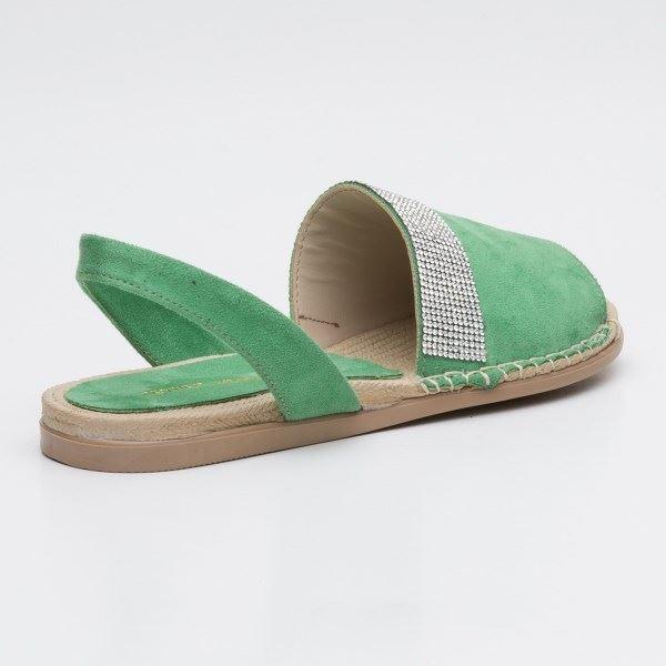 Piero Sandalet Yeşil Süet