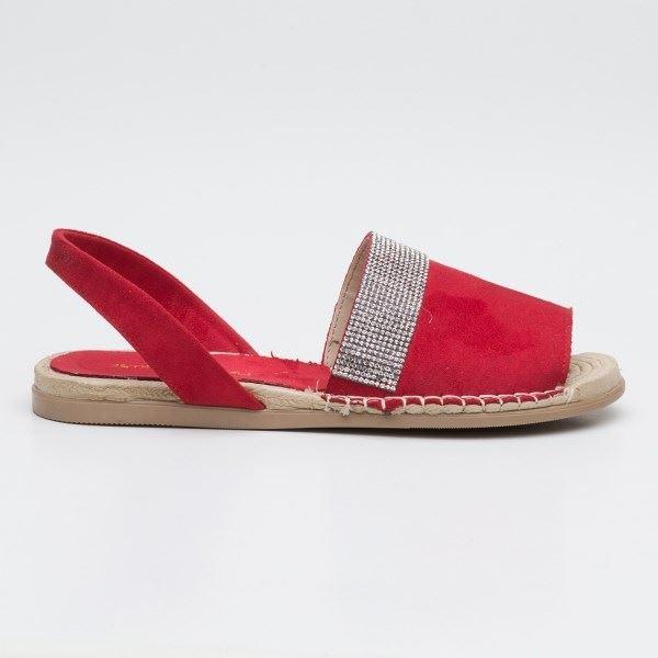 Piero Sandalet Kırmızı-Süet