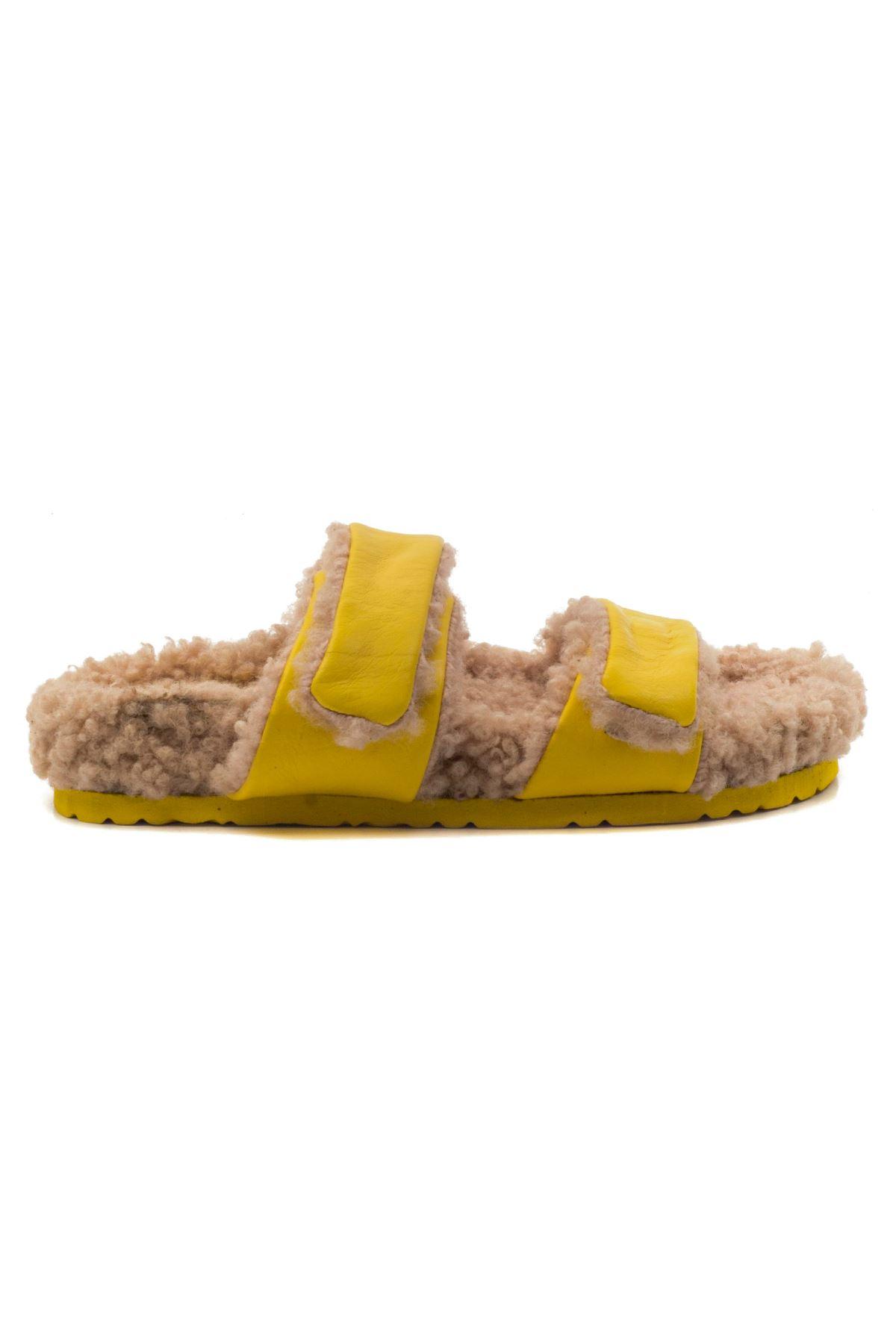 Silvano Kadın Terlik Sarı