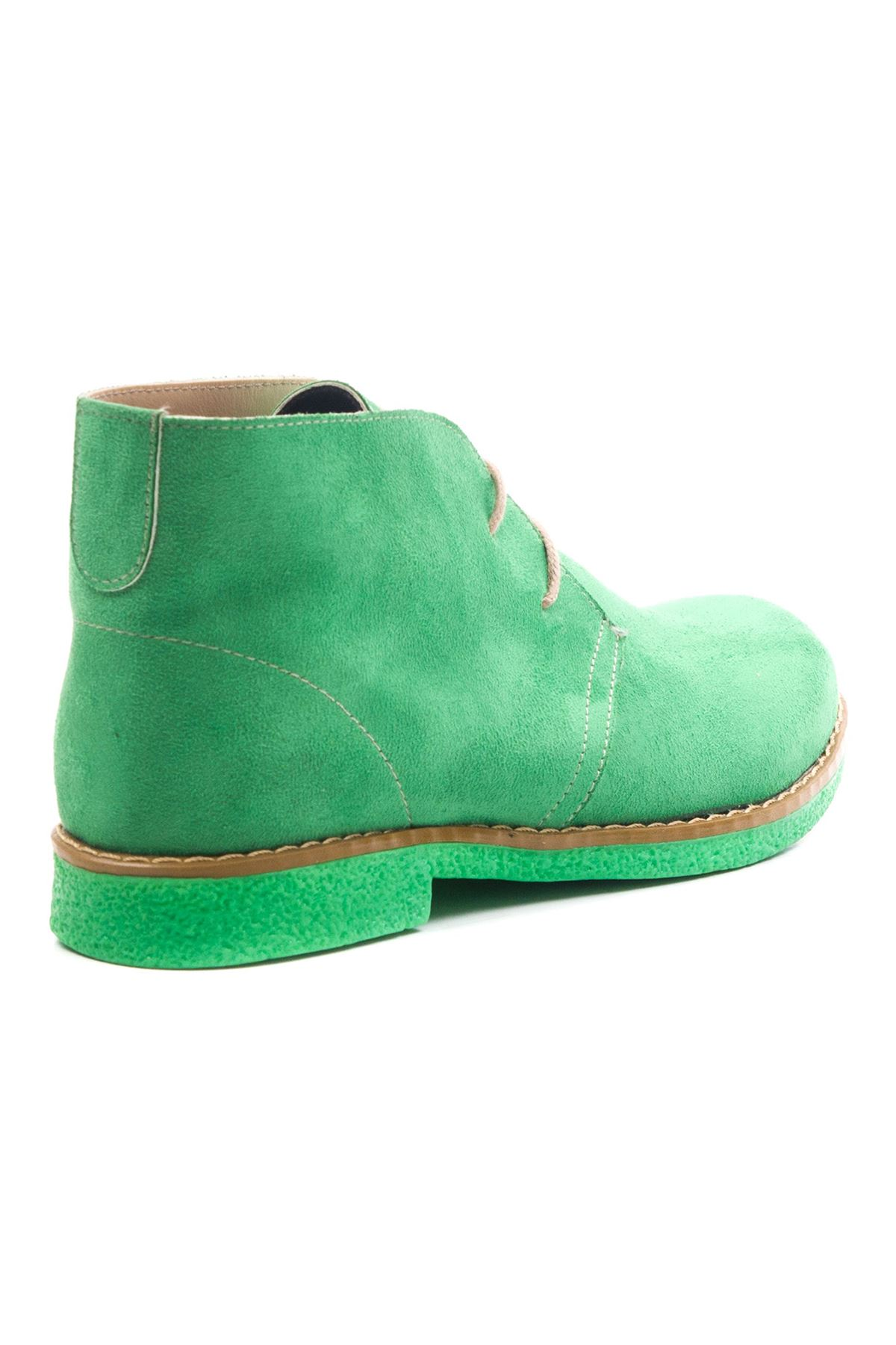Ventricosa Kadın Bot Yeşil Süet Yeşil Taban