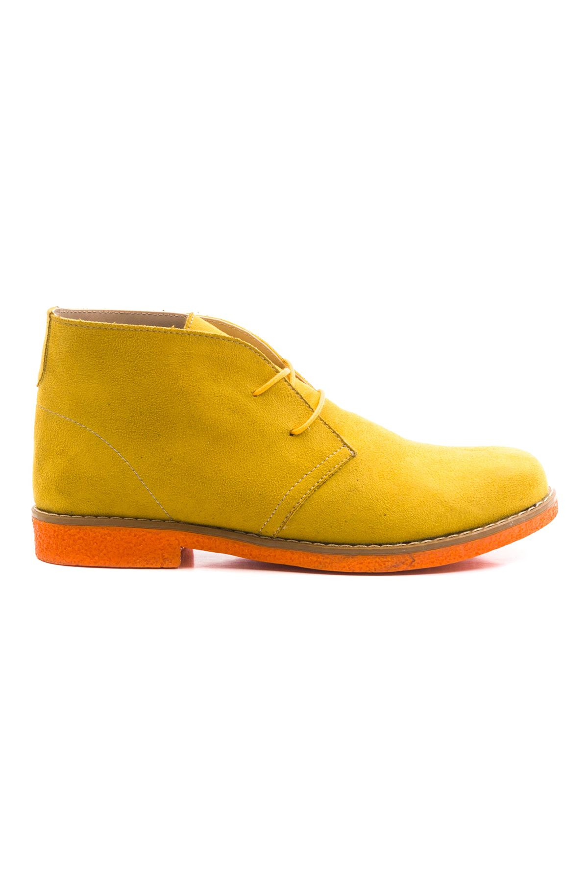 Ventricosa Kadın Bot Sarı Süet Oranj Taban