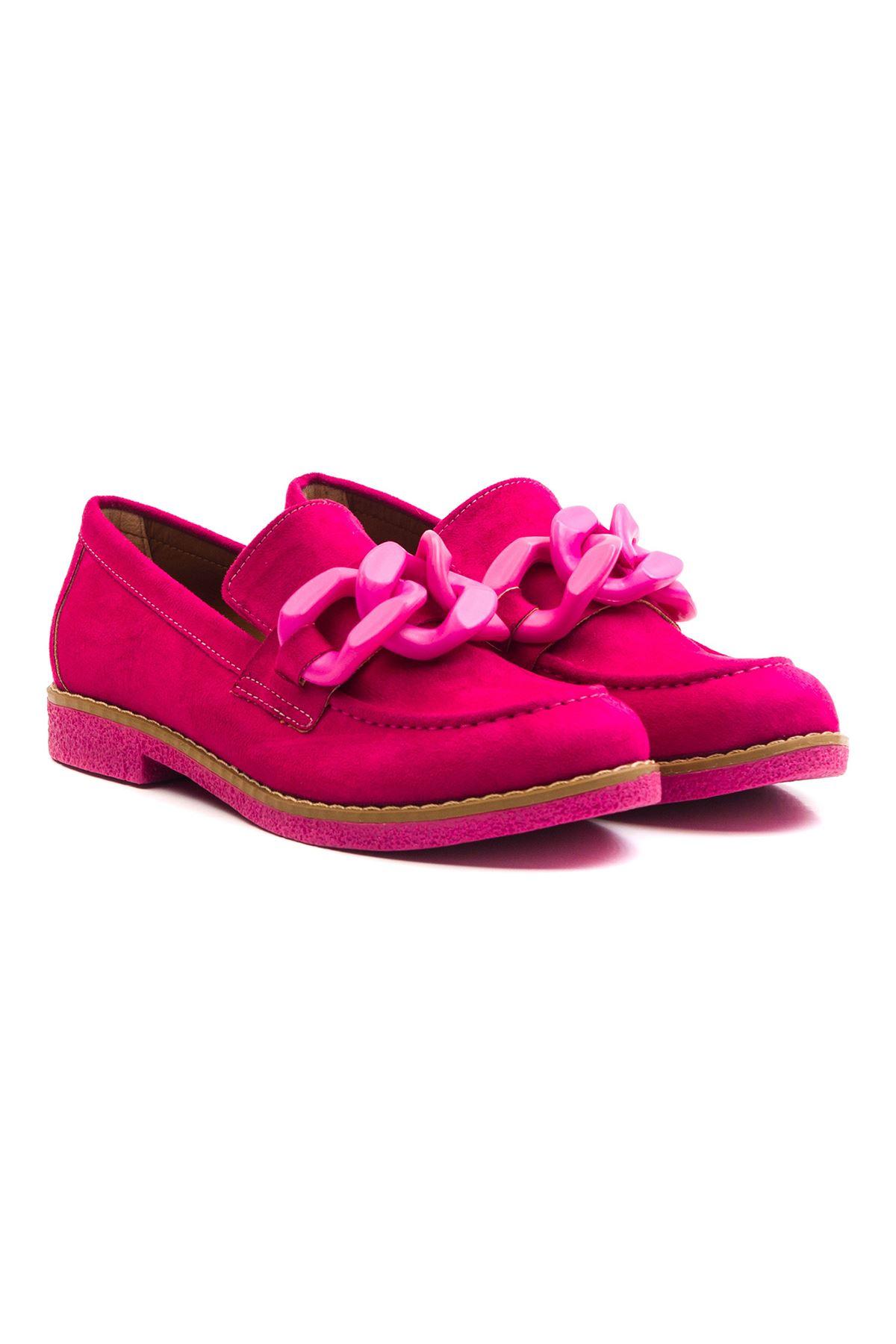 Violaces Kadın Ayakkabı Fuşya Süet Fuşya Taban