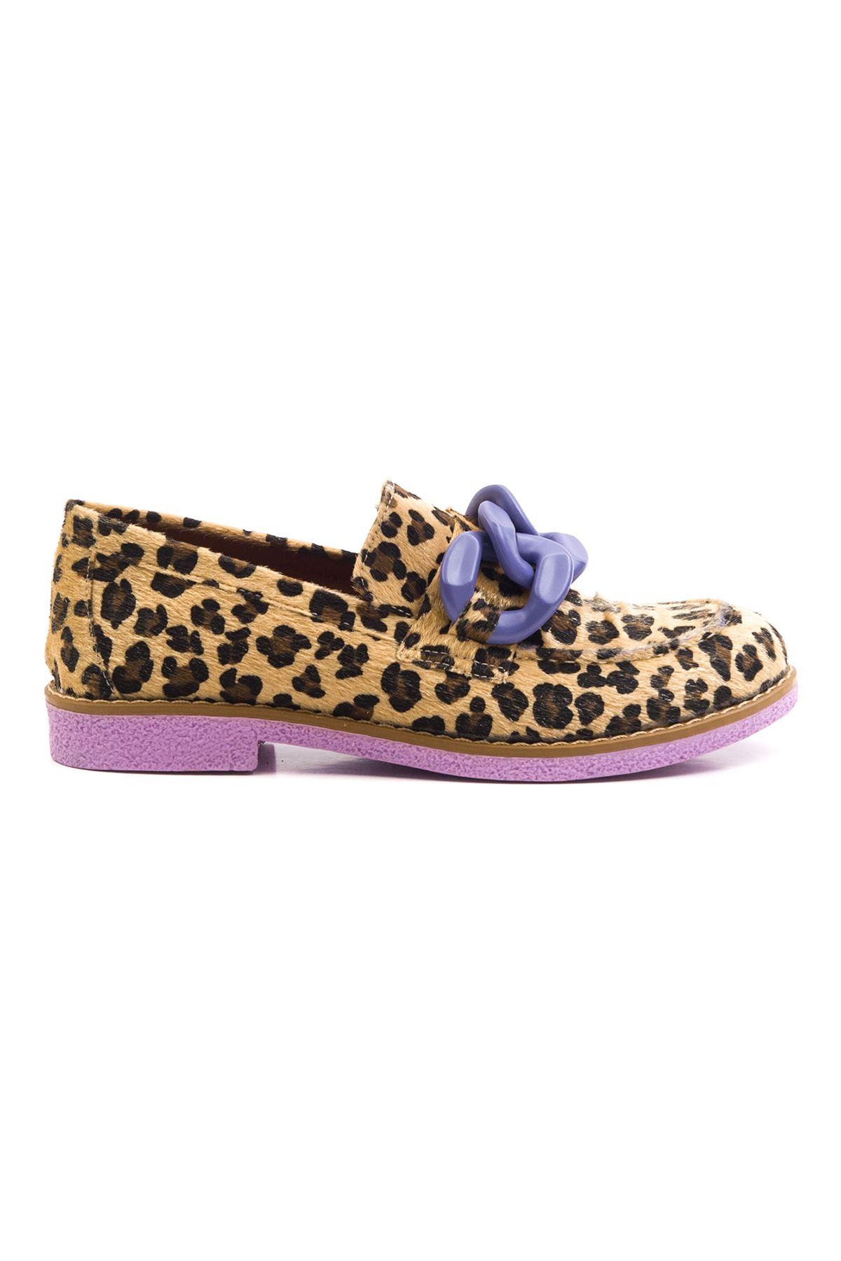 Violaces Kadın Ayakkabı Leopar Lila Taban