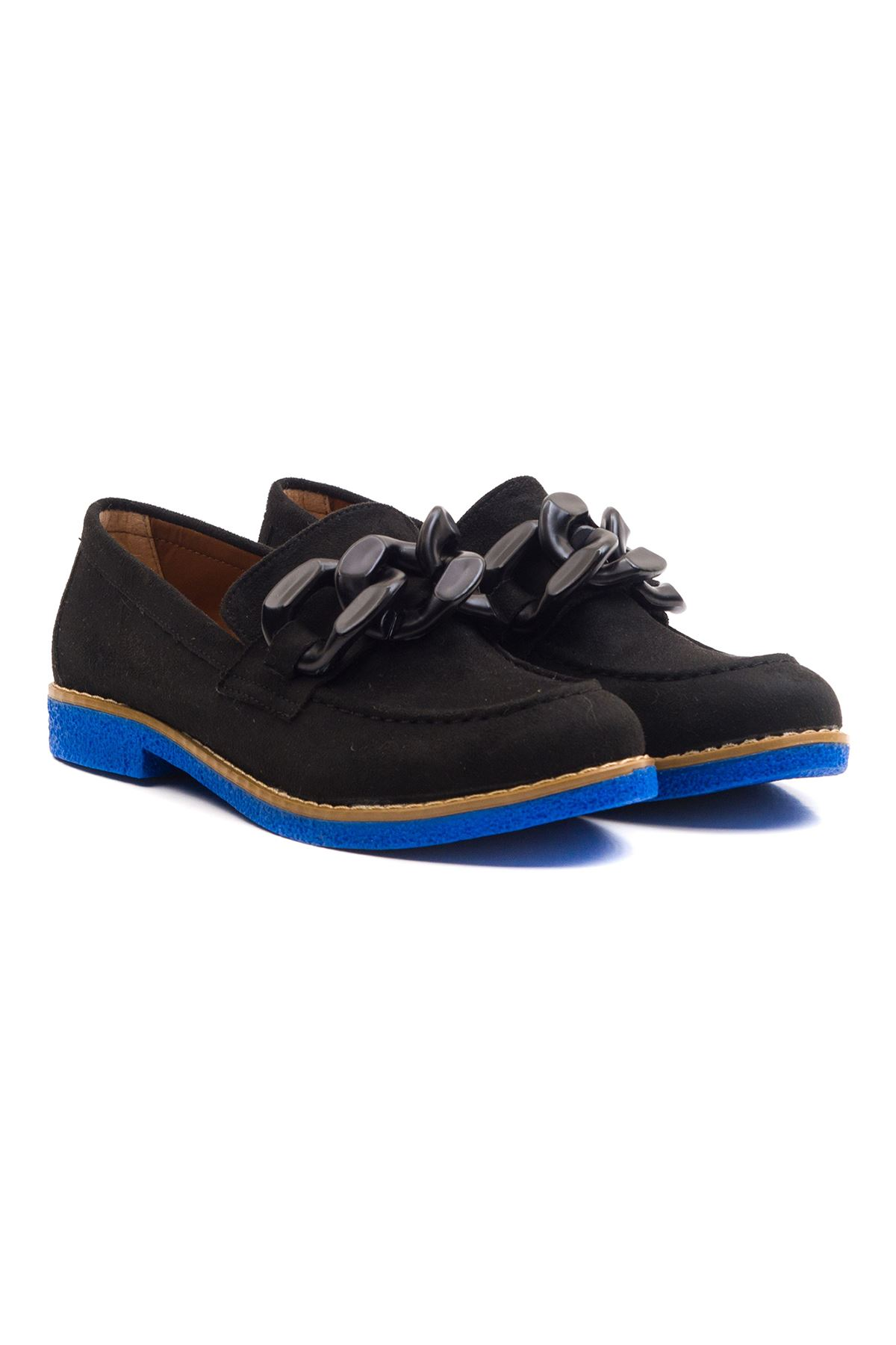 Violaces Kadın Ayakkabı Siyah Süet Saks Taban