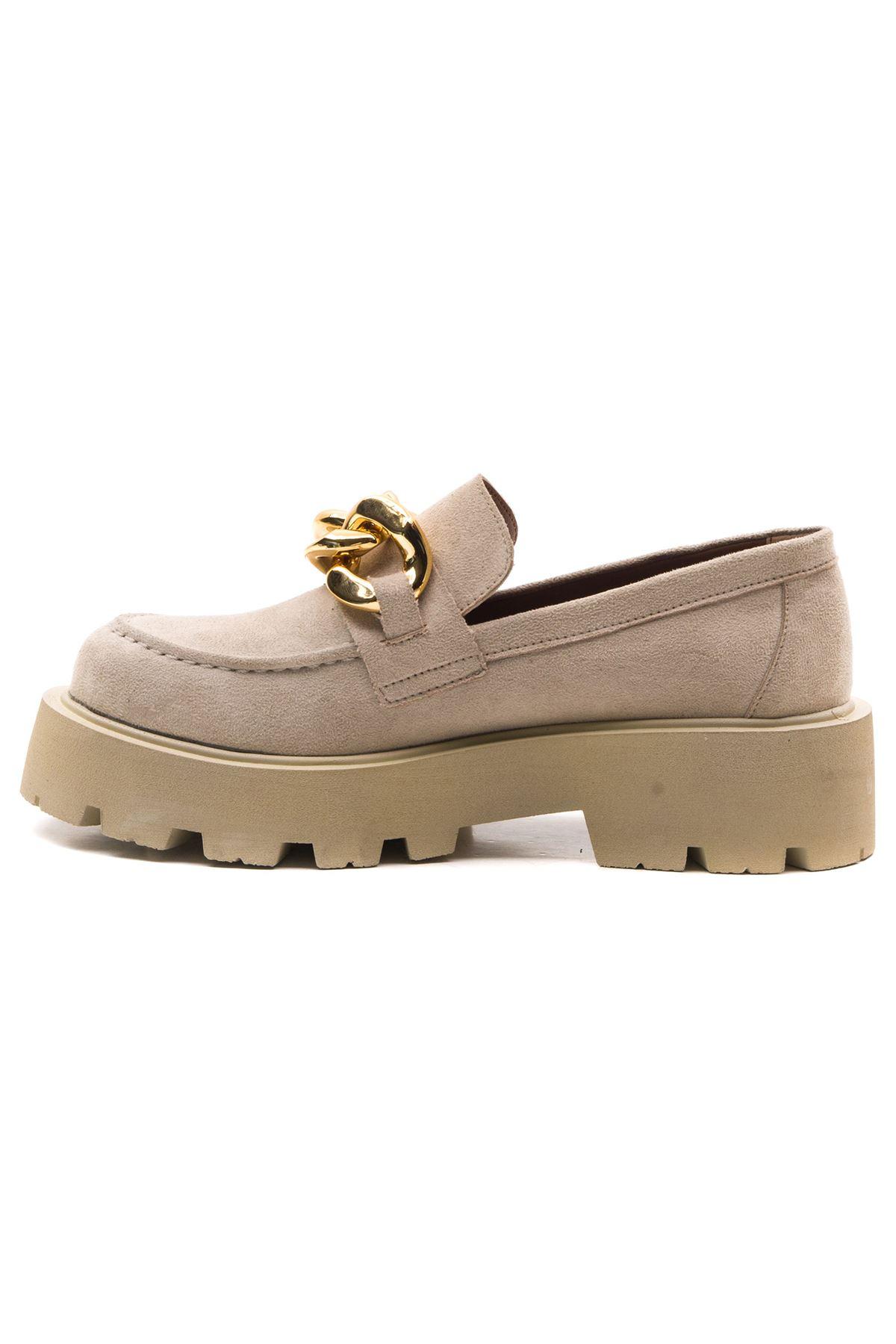 Ezra Kadın Ayakkabı Bej Süet